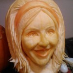 """Flo, the Progressive Girl"" 3D Pumpkin Carving by Brandy Davis"