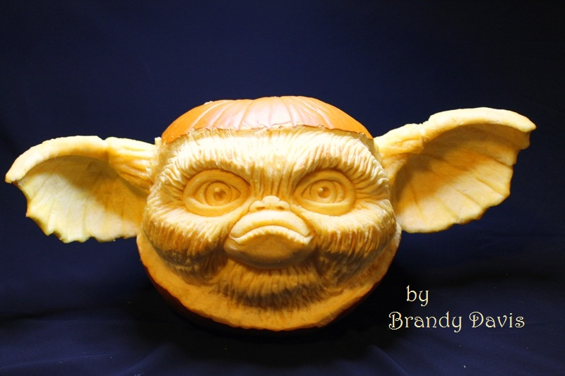 """Gizmo"" 3D pumpkin carving by Brandy Davis"