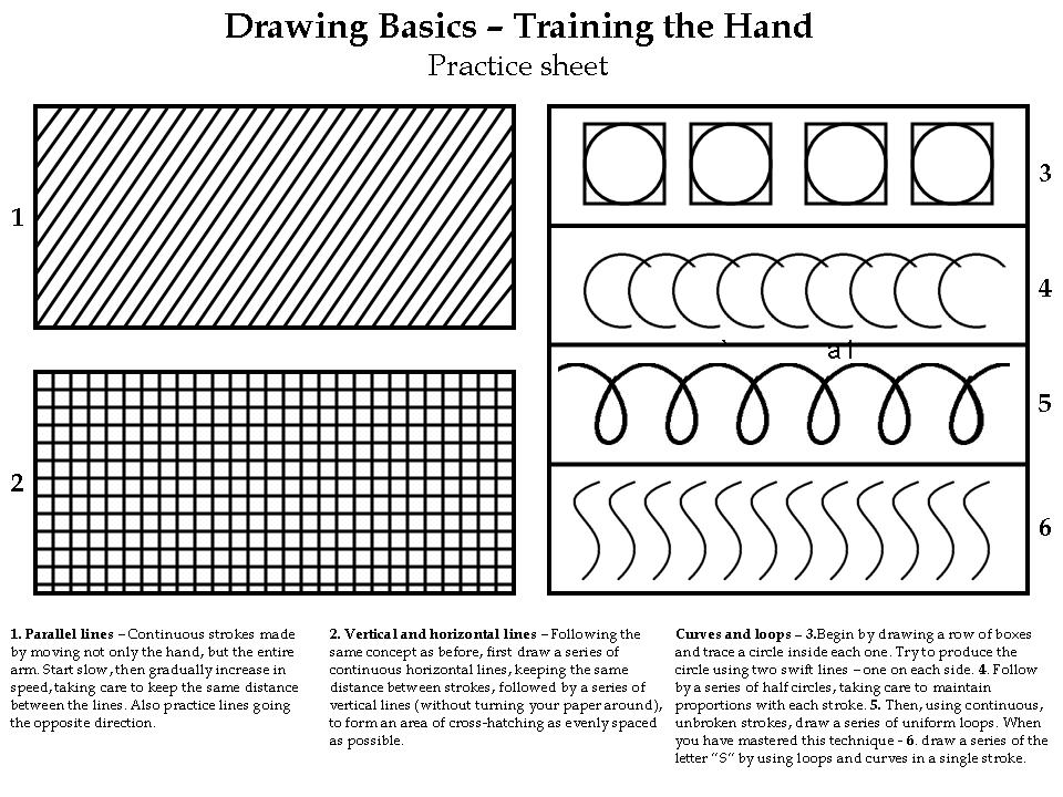 Drawing Lines Exercises : Back to basics a drawing exercise for all skill levels