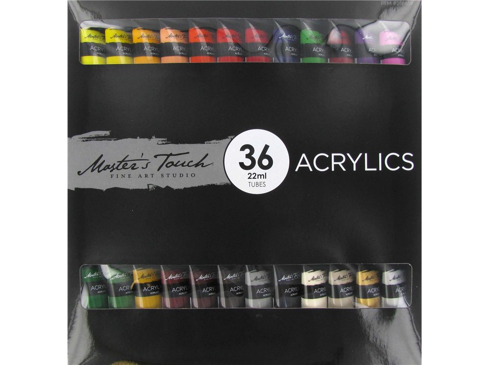 Set of 36 tubes of Master's Touch Acrylic paint