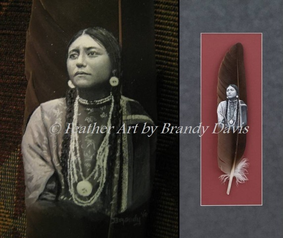 """Courage"" hand-painted feather by Brandy Davis"
