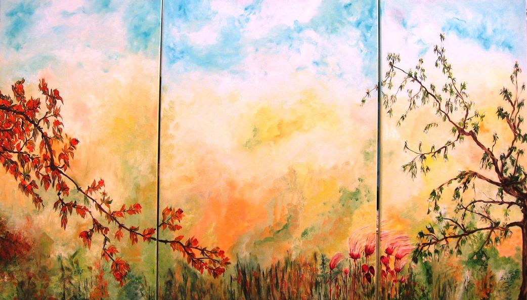 """""""La Primavera"""" Oil Painting by Doris Cohen"""
