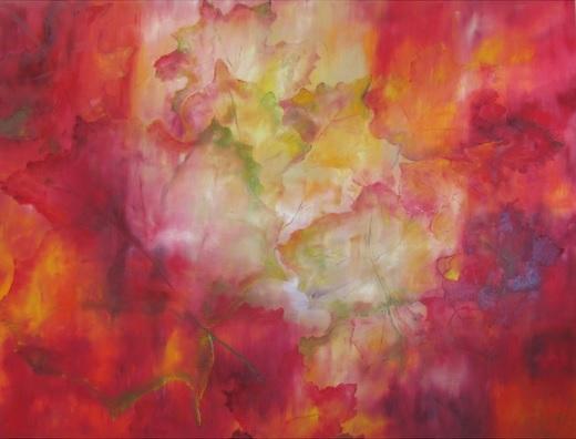 """Maple Leaves"" Oil painting by Doris Cohen"