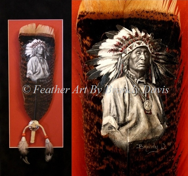 """""""Honor"""" hand-painted feather by Brandy Davis"""