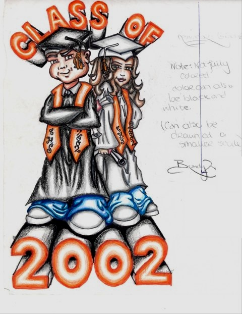 My design for the Class of 2002 senior t-shirt