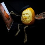 """The Pumpkin Artist""  3D pumpkin by Brandy Davis"