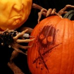 """The Tattoo Artist"" 3D Pumpkin by Brandy Davis. Close-up Sullen Logo"