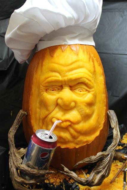 Gettin' a little thirsty...... (3D Pumpkin Carving by Brandy Davis)