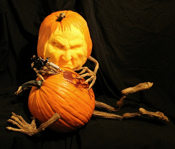 """The Tattoo Artist"" 3D Pumpkin by Brandy Davis"