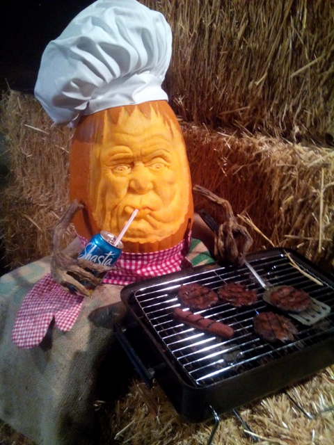 """Chillin' N' Grillin' 3D Pumpkin Carving by Brandy Davis"
